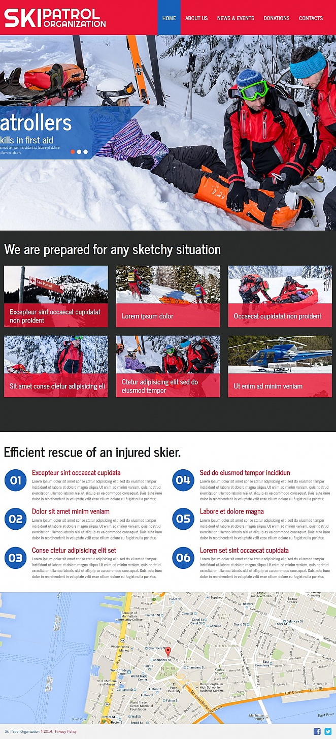 Winter Sports Website Template - image