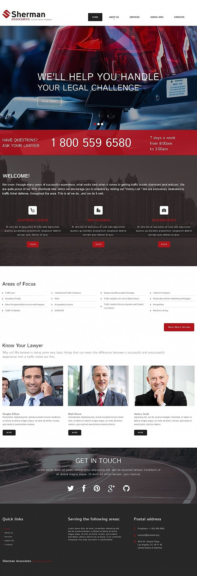 Law Website Template with Creative Design - image