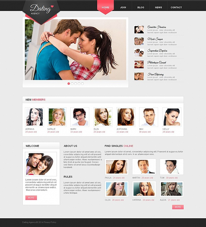 Online Dating Website Template with CMS - image