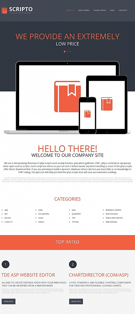 ADOBE Photoshop Template 50848 Home Page Screenshot