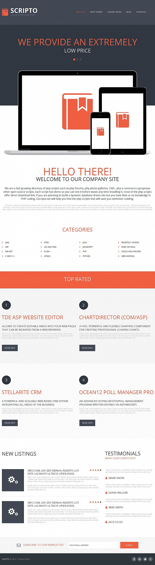 Software Website Template with User-Friendly CMS - image