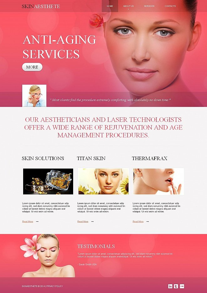Website Design for Anti-Aging Industry - image
