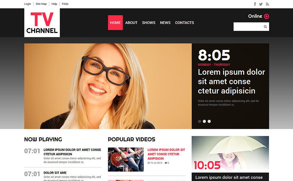 Responsywny szablon Joomla #50864 na temat: kanał telewizyjny New Screenshots BIG