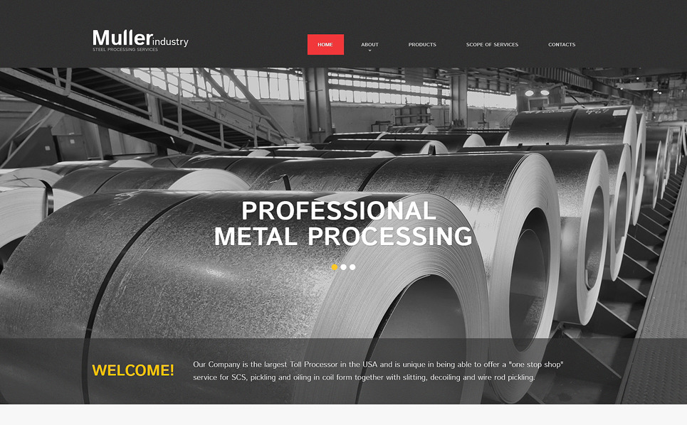 Responsive Website template over Staalbedrijf  New Screenshots BIG