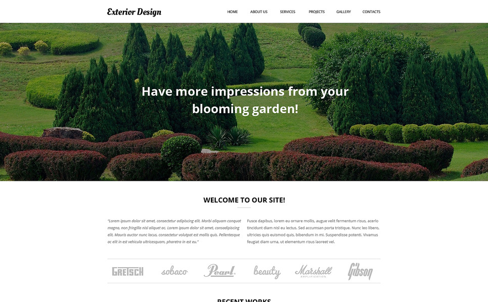 Адаптивний Шаблон сайту на тему дизайн саду New Screenshots BIG