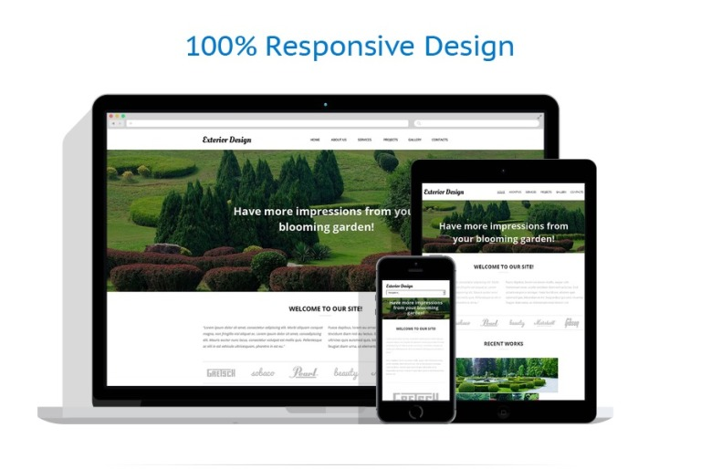 Garden Design Responsive Website Template #50866
