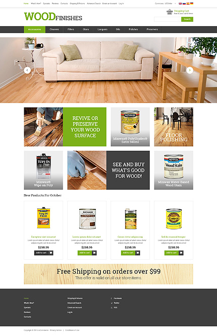 osCommerce Template 50868 Main Page Screenshot