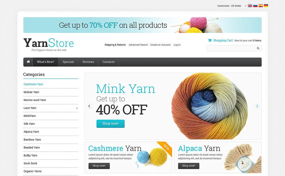 Szablon OsCommerce #50869 na temat: rzemieślnictwo New Screenshots BIG