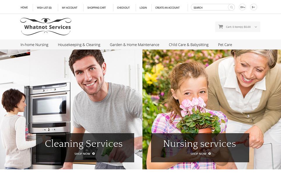 Reszponzív Karbantartási szolgáltatások OpenCart sablon New Screenshots BIG