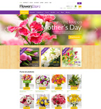 Flowers ZenCart  Template 50876