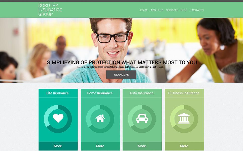 保险公司网站Drupal模板 New Screenshots BIG