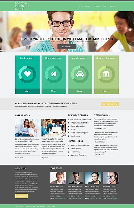 Drupal Template 50877 Main Page Screenshot
