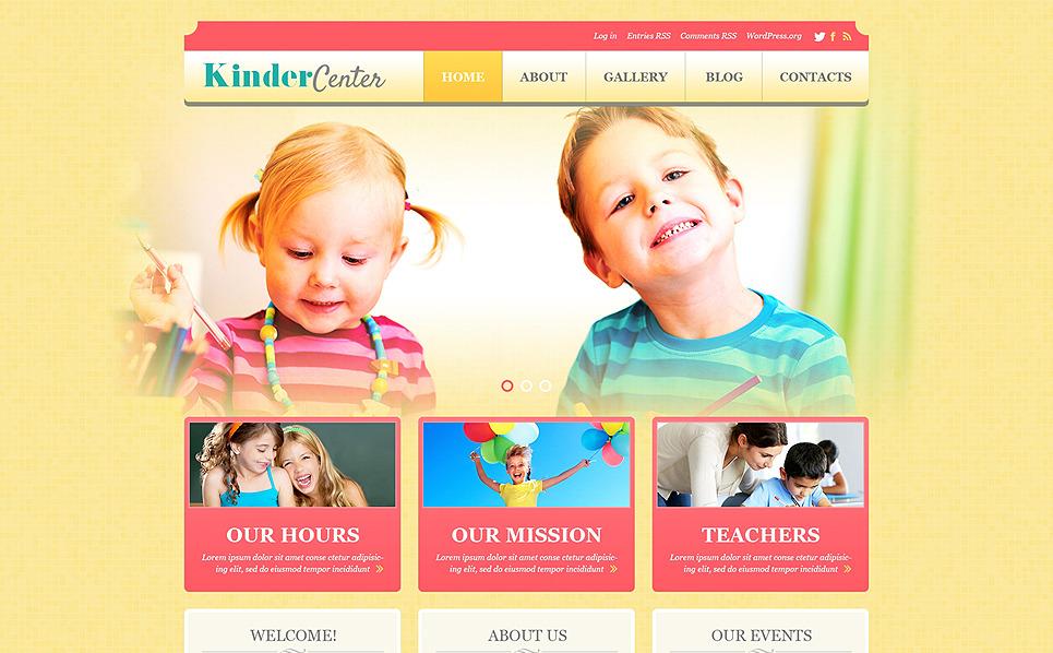 Responsive WordPress thema over Kindercentrum New Screenshots BIG