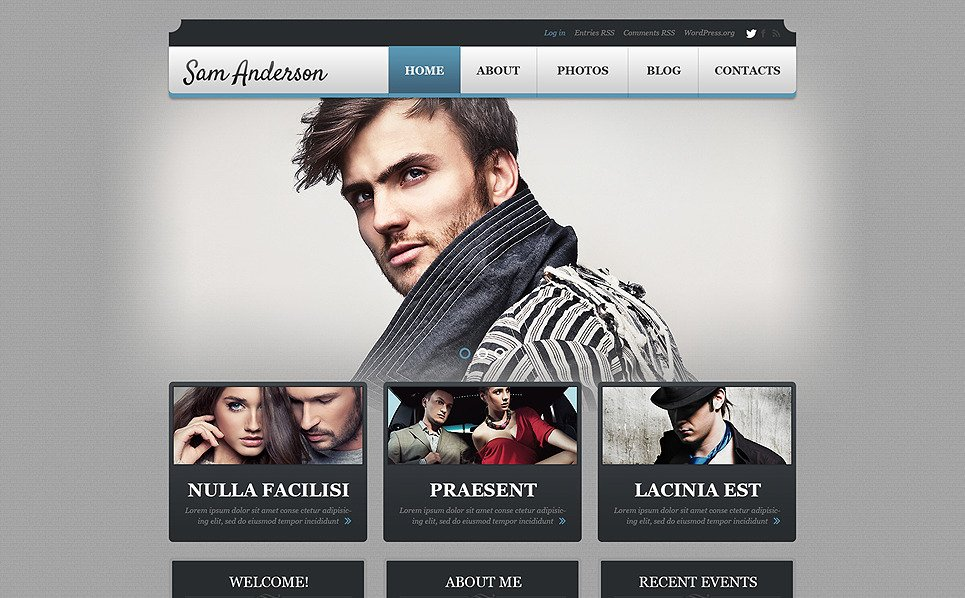 响应式WordPress模板 New Screenshots BIG