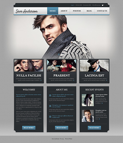 WordPress Theme/Template 50881 Main Page Screenshot