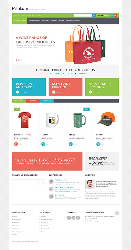 ADOBE Photoshop Template 50887 Home Page Screenshot