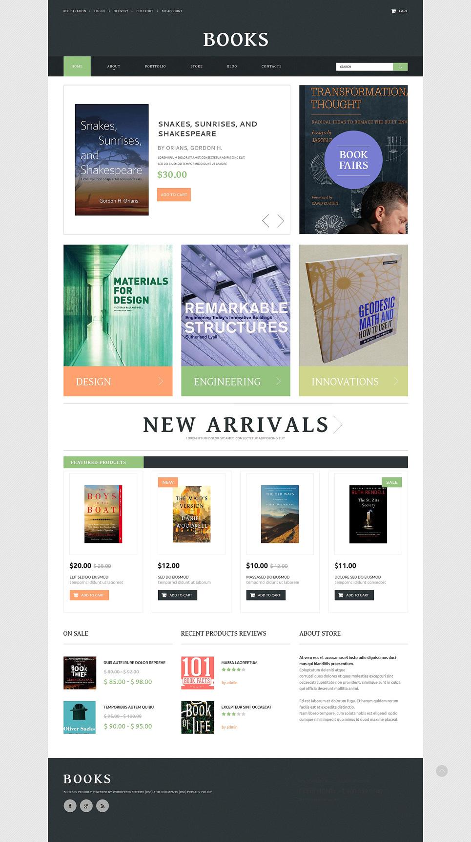 Books Website Templates by Daniel C. Adams