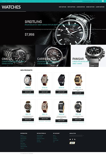 Magento Theme/Template 50896 Main Page Screenshot