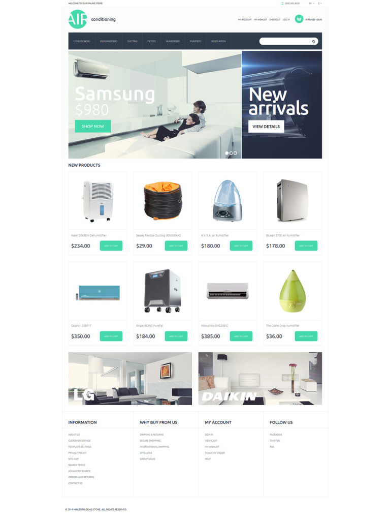 AC Parts and Accessories Magento Theme New Screenshots BIG