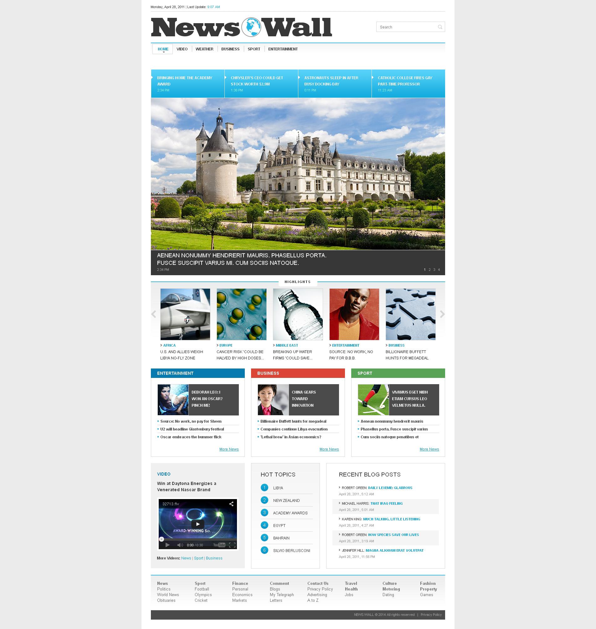 Адаптивний Шаблон сайту на тему новинний портал №50867
