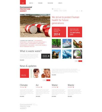 Environmental Responsive Шаблон сайту