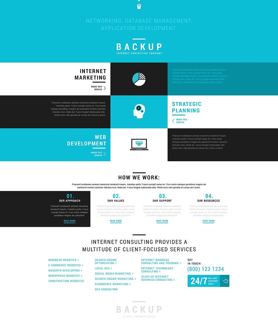 Адаптивный шаблон сайта на тему маркетинговое агентство #50811