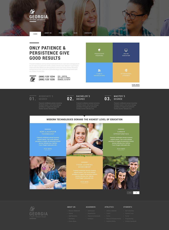 Адаптивный шаблон сайта на тему университет #50861