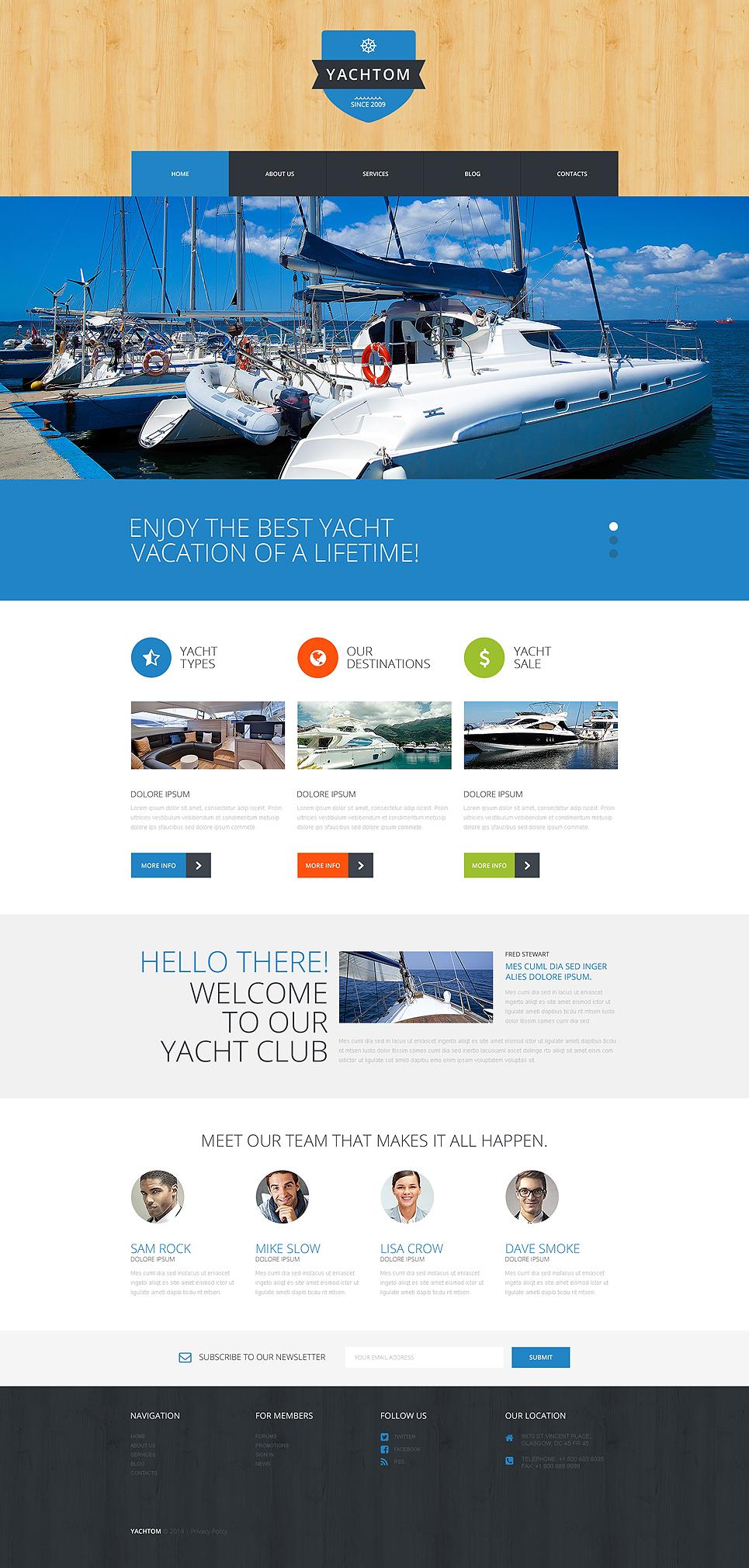 Адаптивный шаблон сайта на тему яхтинг #50885