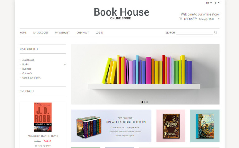 book store responsive magento theme 50899