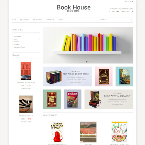 Book House - Responsive Magento Template