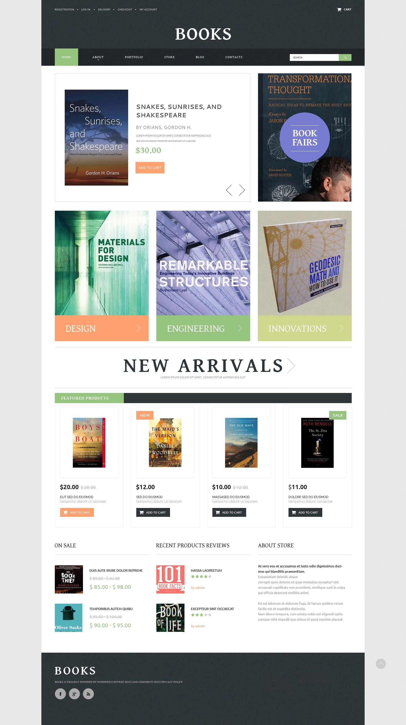 Books PSD Template