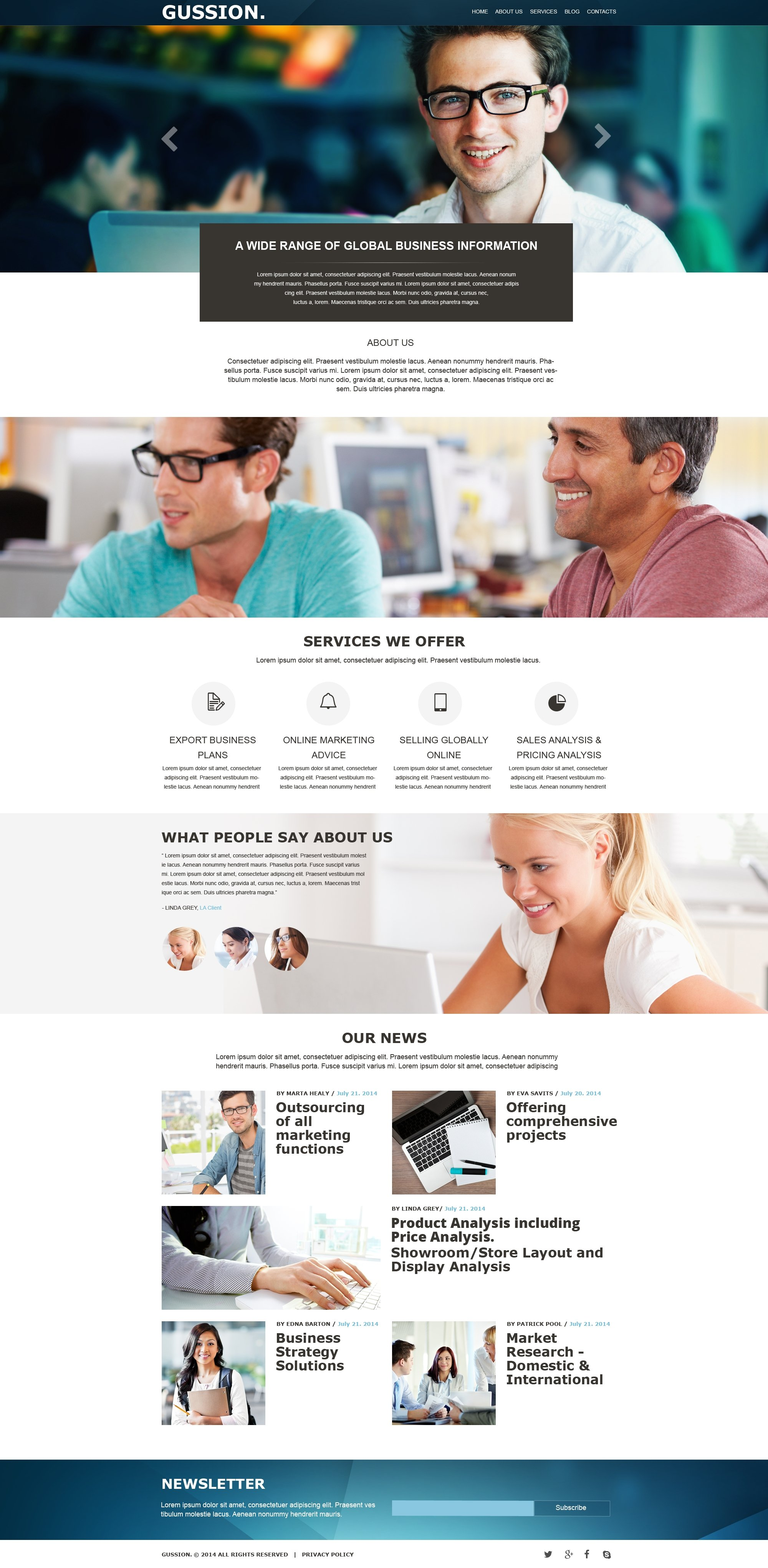Business & Services Muse Template