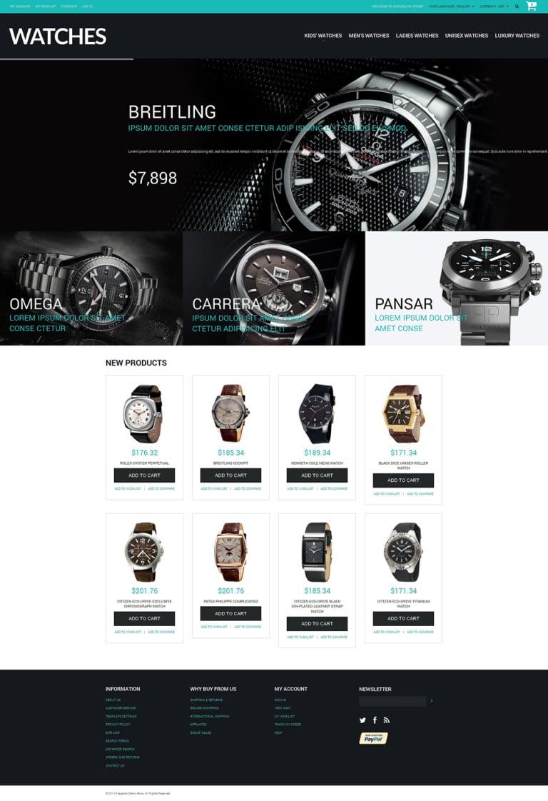Buy Watches Magento Theme New Screenshots BIG