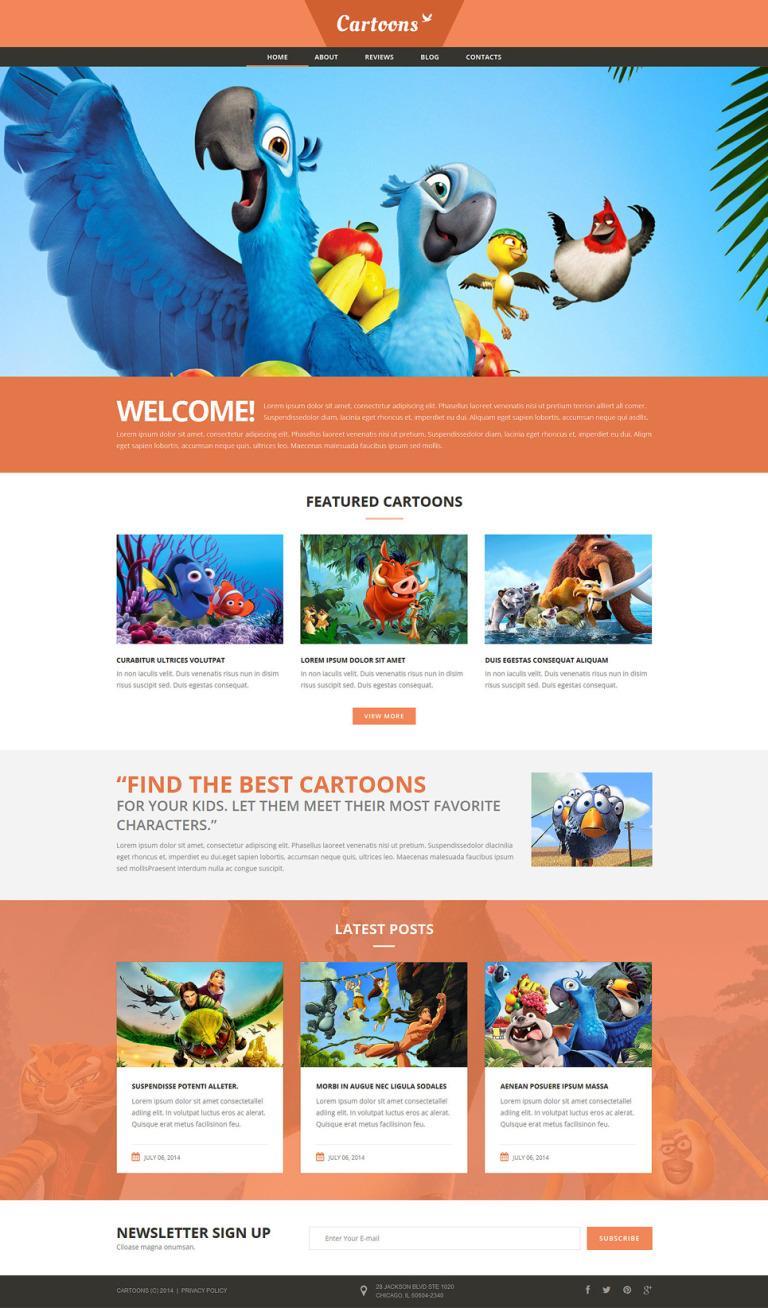 Cartoons Land Joomla Template New Screenshots BIG