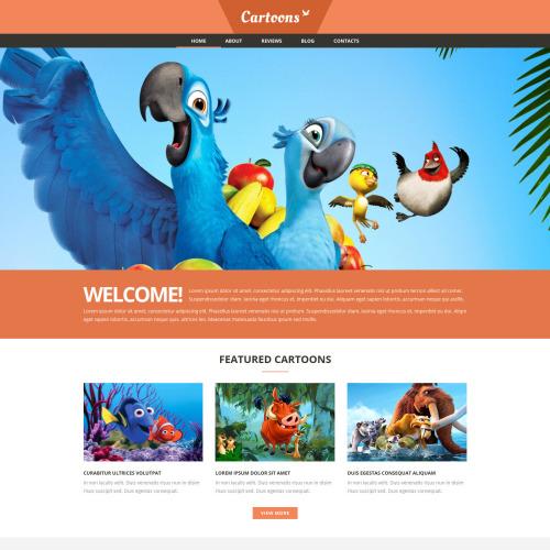 Cartoons  - Joomla! Template based on Bootstrap