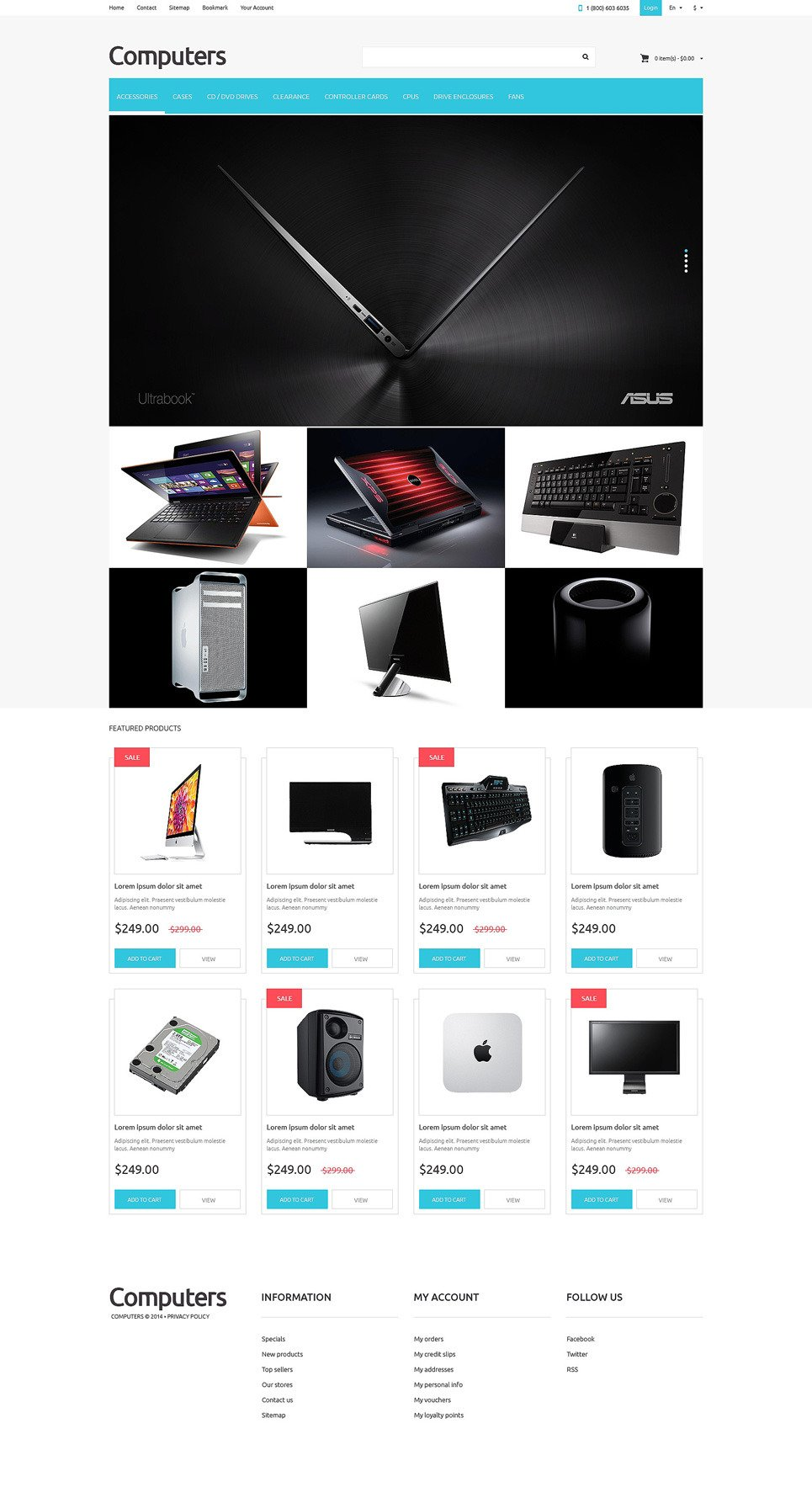 Computer Store PSD Template New Screenshots BIG
