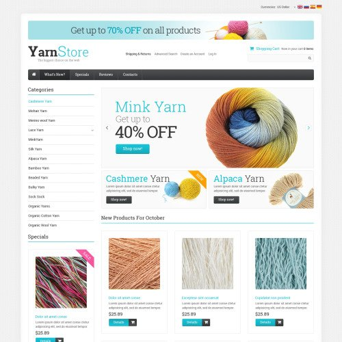 Yarn Store - osCommerce Template