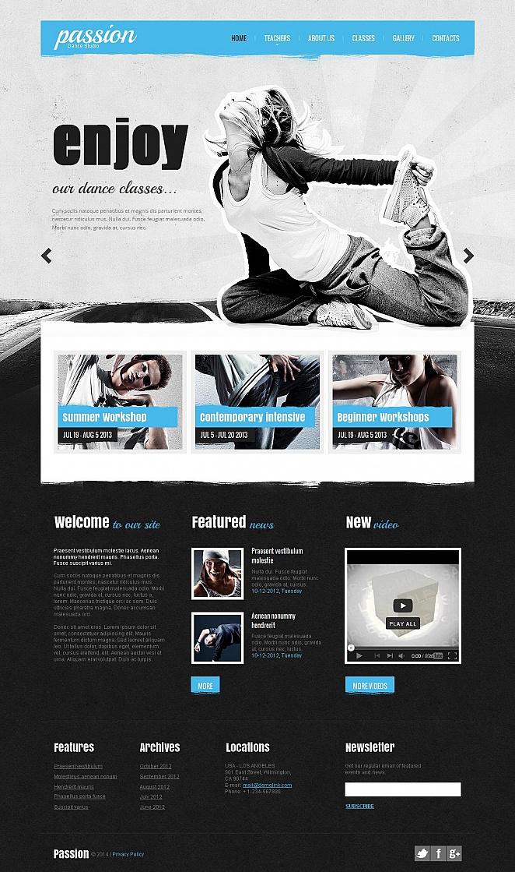 Dance Studio Moto Cms Html Template 50826