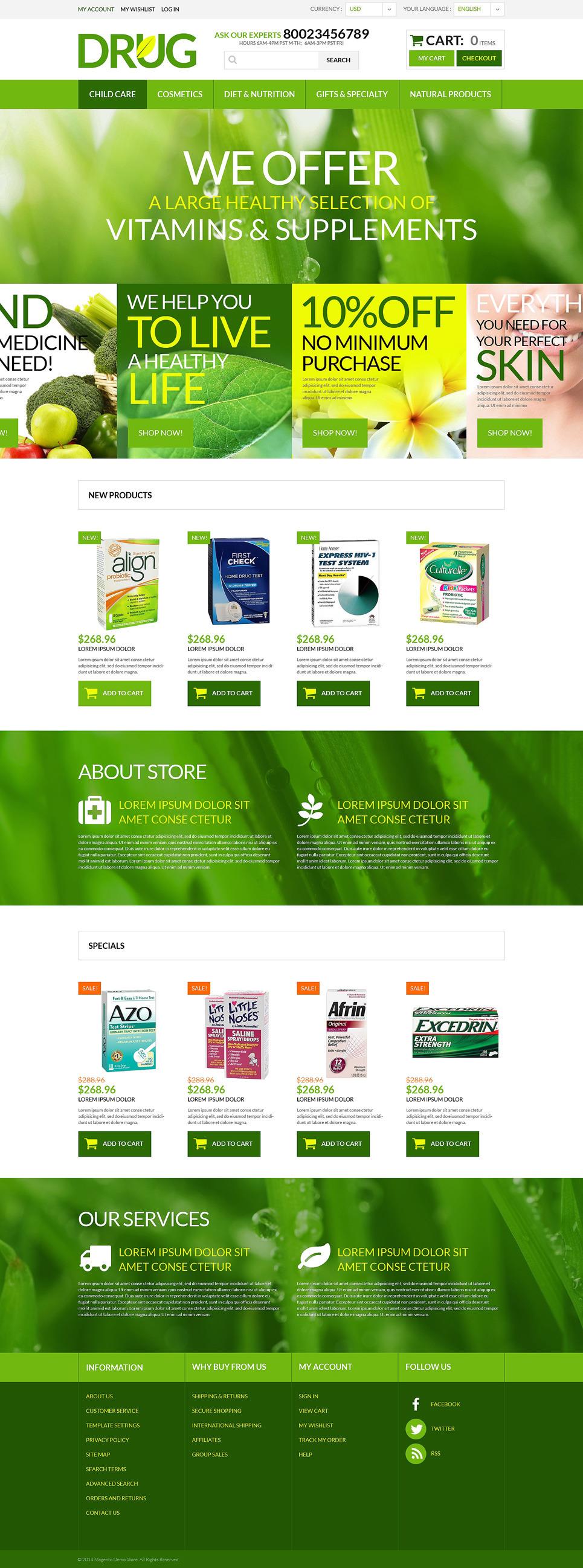 Drug Store PSD Template New Screenshots BIG