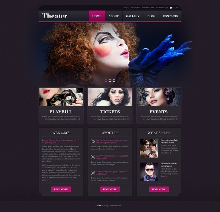 Entertainment.Theater Template WordPress Theme New Screenshots BIG