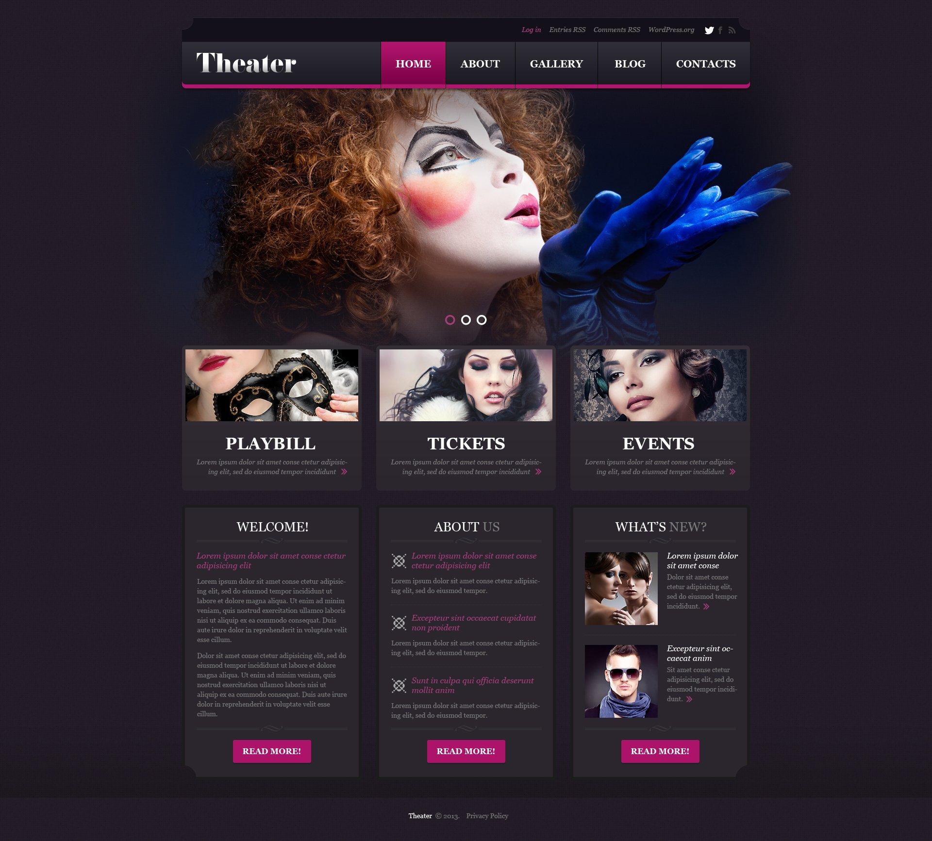 Theater Responsive WordPress Theme #45269