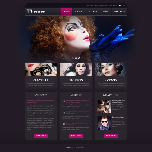Theater - WordPress Template based on Bootstrap