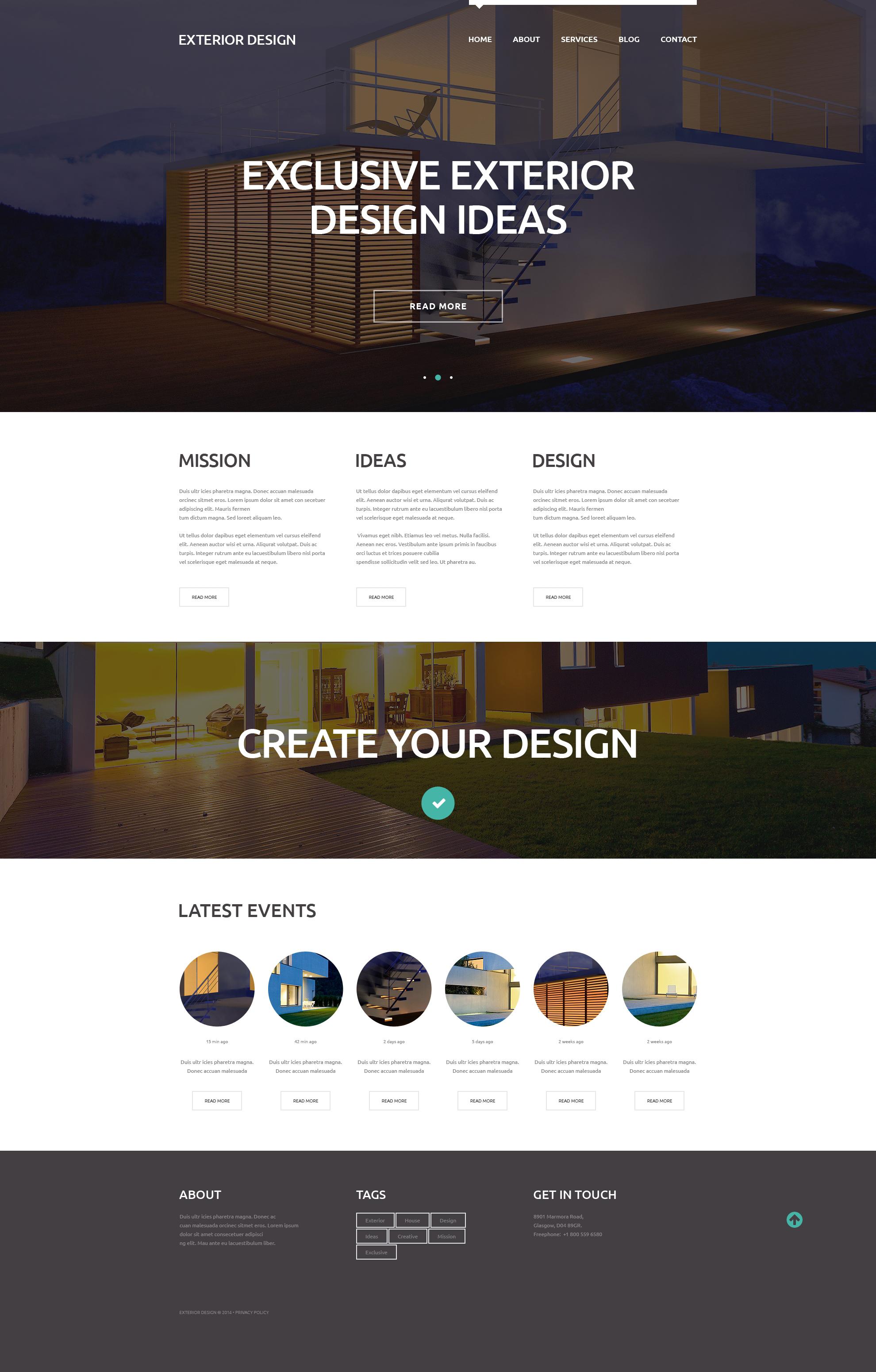 External Design Trends WordPress Theme - screenshot