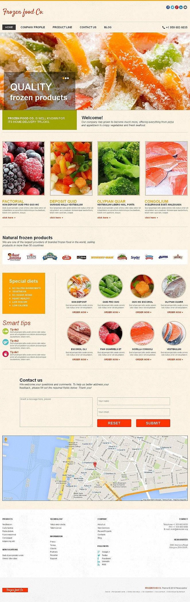 Frozen Food Moto CMS HTML Template New Screenshots BIG