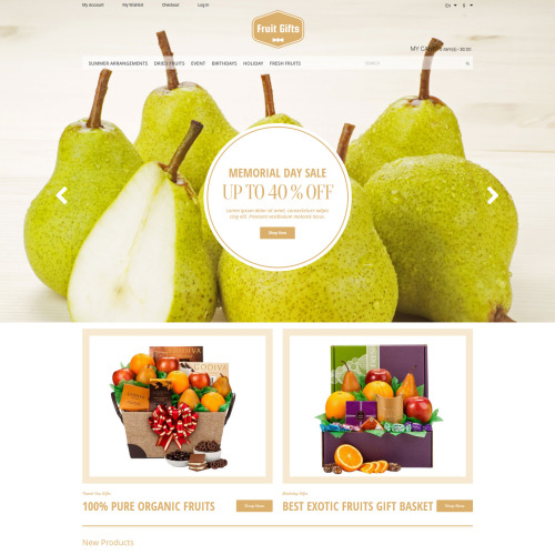 Fruit Gifts - Responsive Magento Template