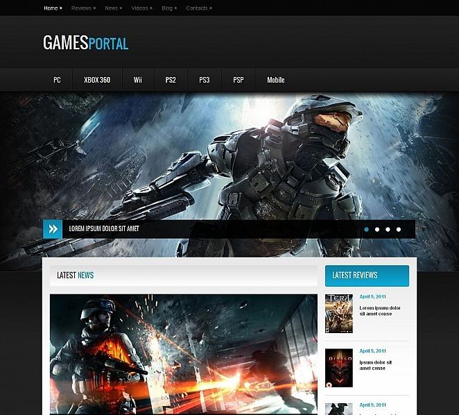 Game Portal Moto CMS HTML Template #50831