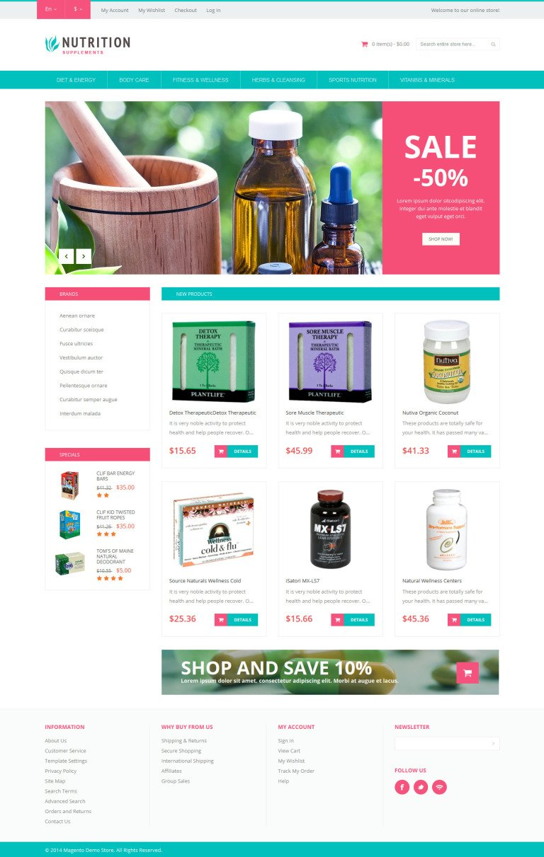 Healthy Life Supplements Magento Theme New Screenshots BIG