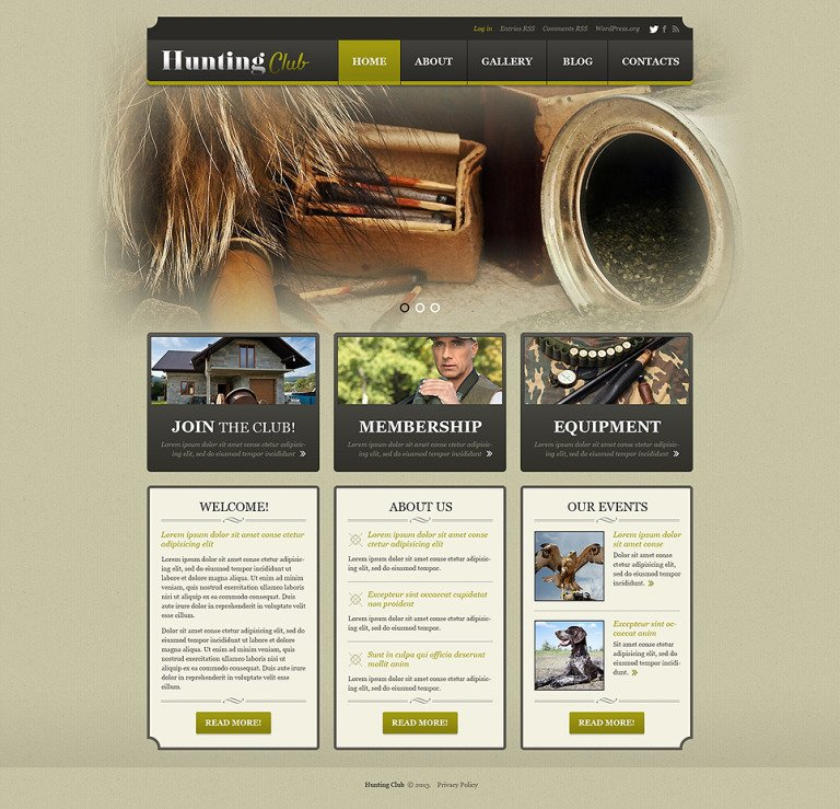 Hunting Responsive WordPress Theme New Screenshots BIG