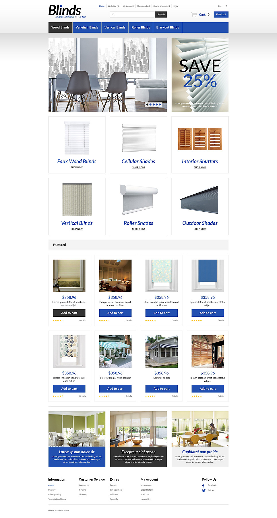 Interior Blinds and Curtains OpenCart Template New Screenshots BIG