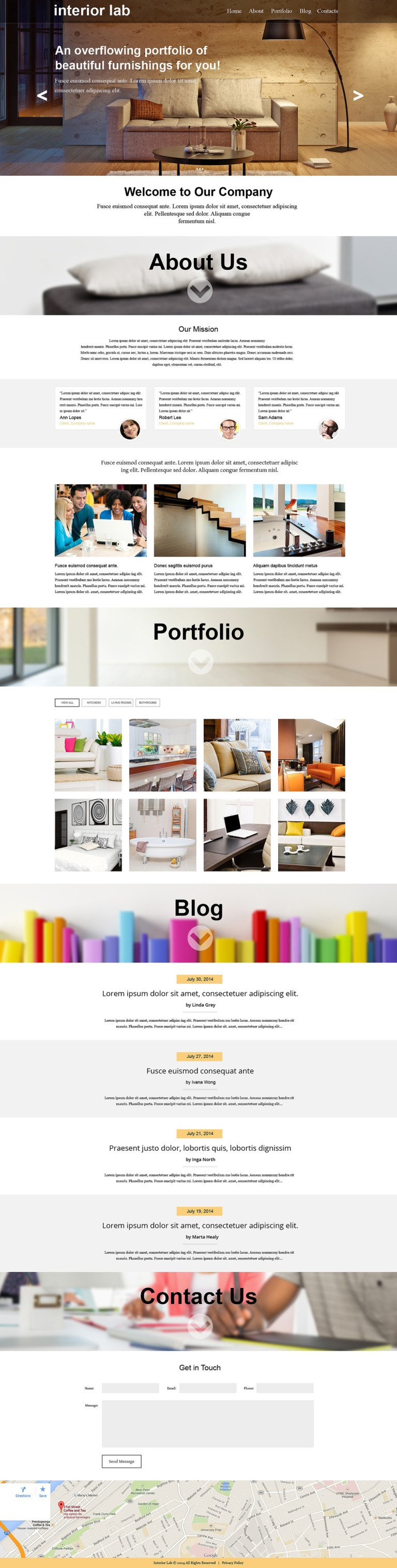 Interior Design Muse Template New Screenshots BIG